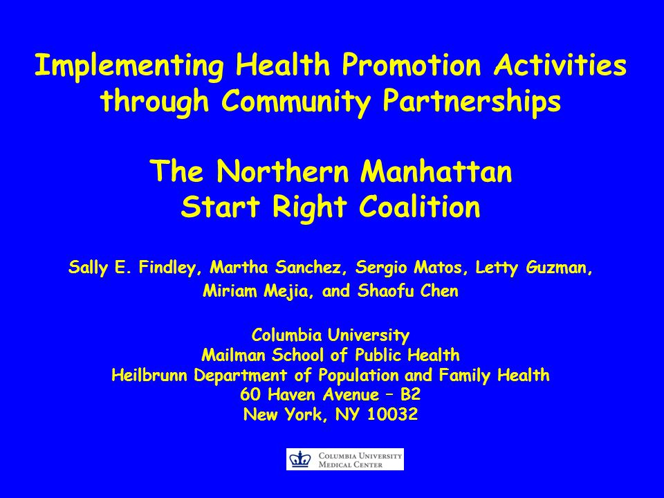 Describe formation of Start Right Coalition Explore Start Right Guiding Principles Describe how we integrated immunization promotion into community organizations and organizational culture Document how the program built the capacity for immunization promotion w/in community organizations Report on 2006 feed back from participating parents (n=47) and CHWs (n=30).