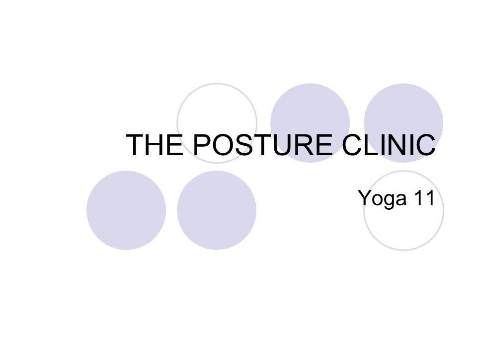 THE POSTURE CLINIC Yoga 11