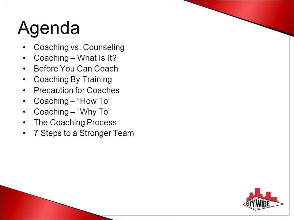 Agenda Coaching vs. Counseling Coaching – What Is It.
