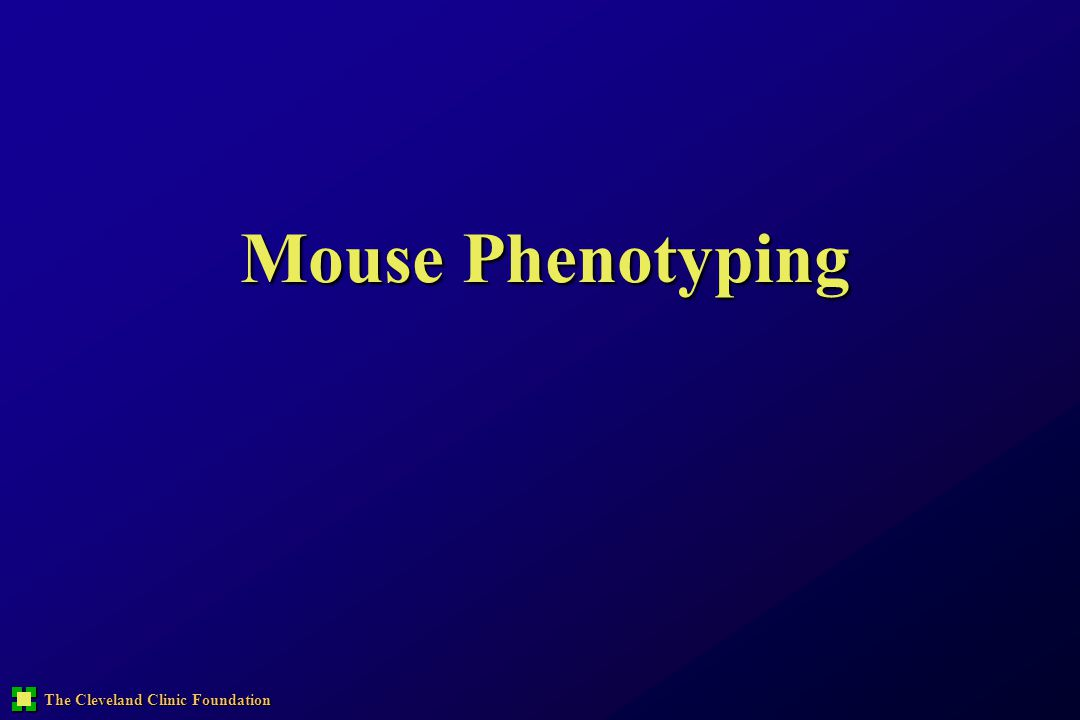 The Cleveland Clinic Foundation Mouse Phenotyping
