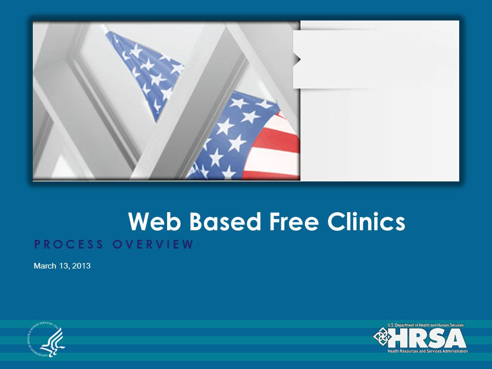 Web Based Free Clinics PROCESS OVERVIEW March 13, 2013