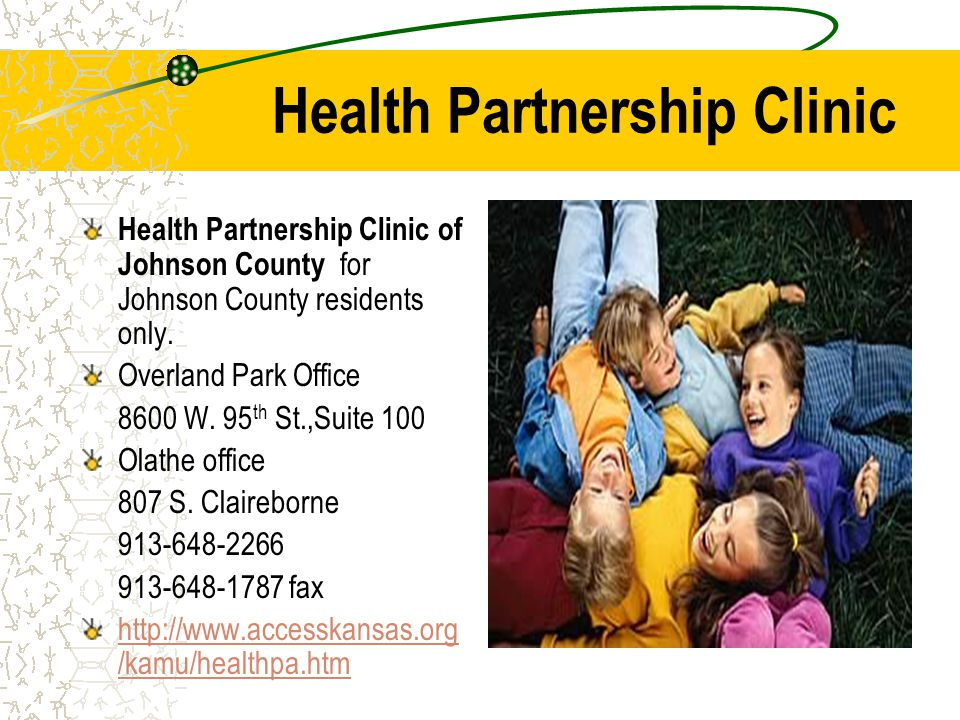 Health Partnership Clinic Health Partnership Clinic of Johnson County for Johnson County residents only.
