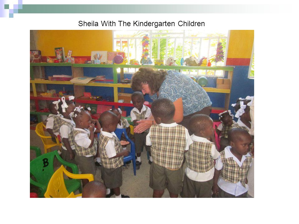 Sheila With The Kindergarten Children