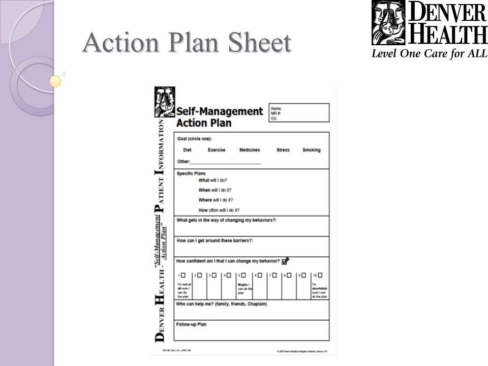 Action Plan Sheet