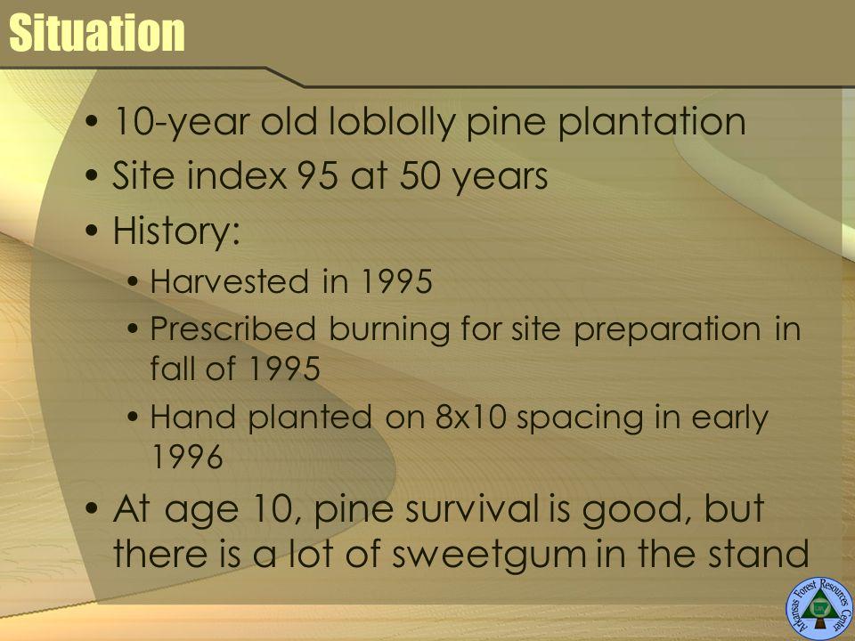 Herbicide simulation – age 30