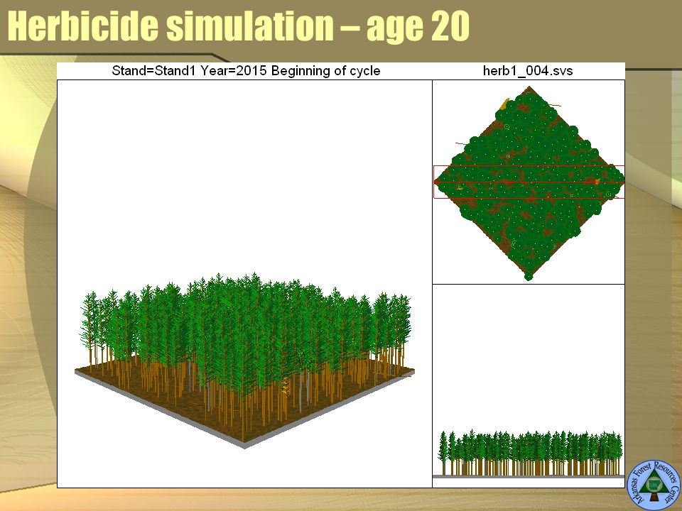 Herbicide simulation – age 20