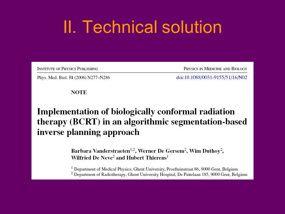 II. Technical solution