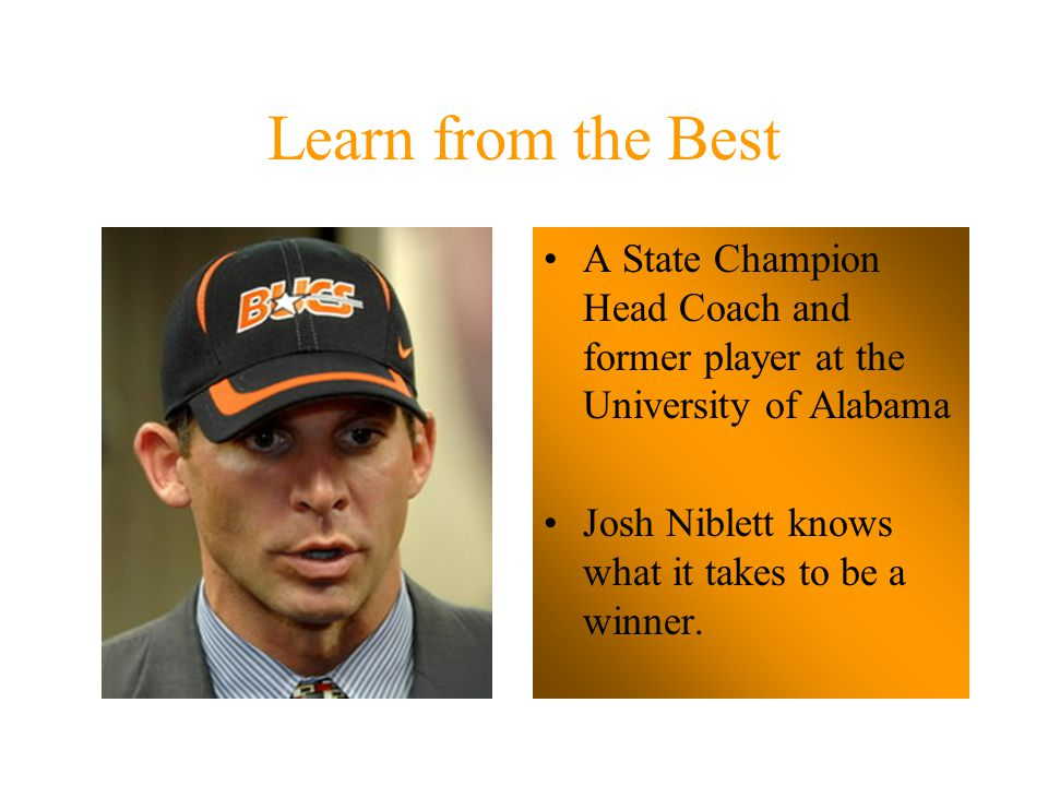 Learn from the Best Twice a State Champion Head Coach at Deshler High School John Mothershed knows coaching