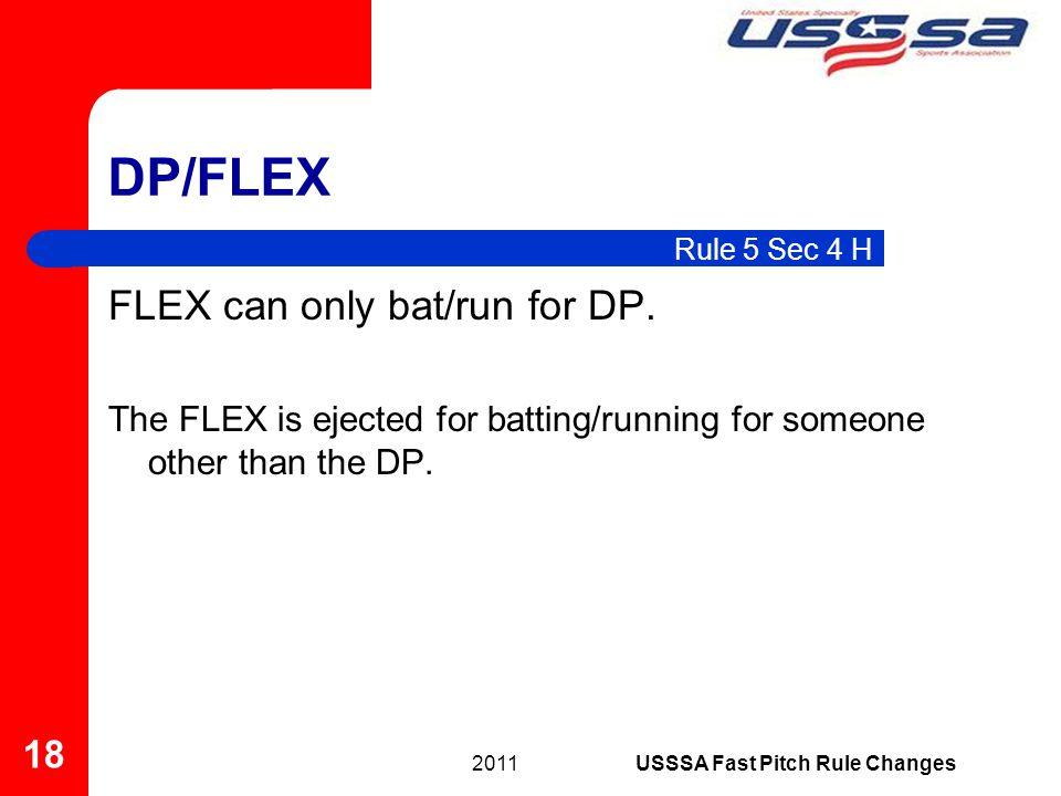 FLEX can only bat/run for DP.