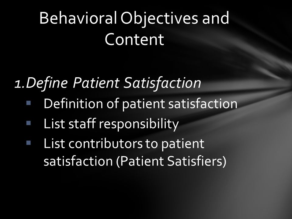 Visit overall satisfaction scores increased from 85.71% in 2/12 to 93% in 10/12 Quality of time spent with patient satisfaction scores increased from 85.71% to 91.09% in 10/12 Helpfulness and Courtesy of Staff satisfaction scores increased from 87.91% in 2/12 to 94% in 10/12 Analysis of data with results compared to targeted performance measures: