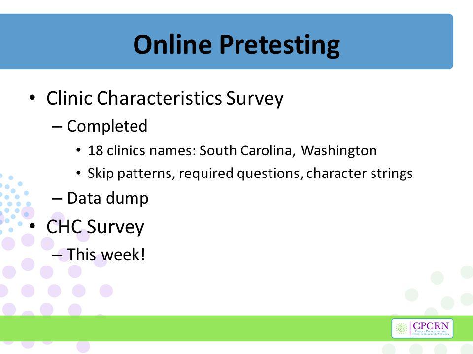 Online CHC Survey