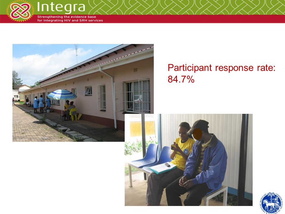 Participant response rate: 84.7%
