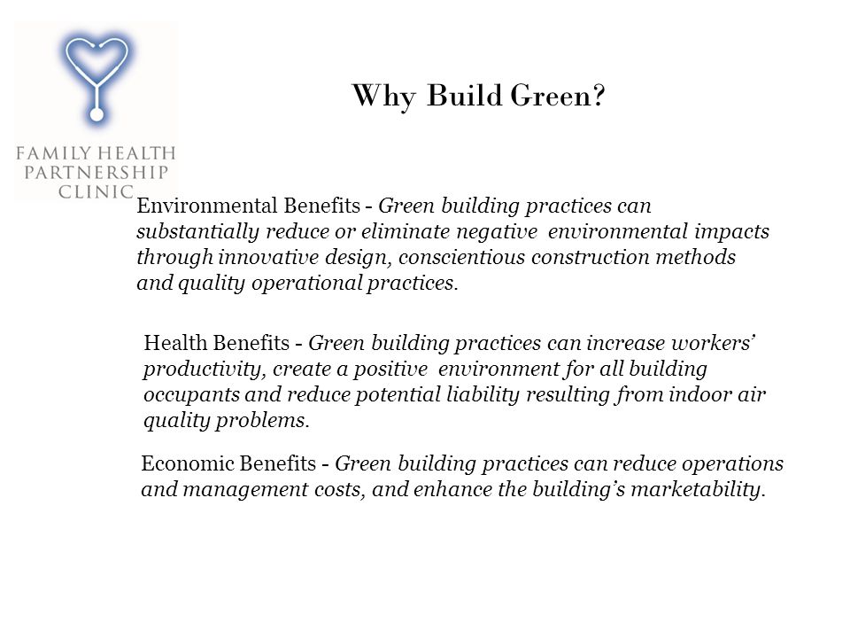 Why Build Green.