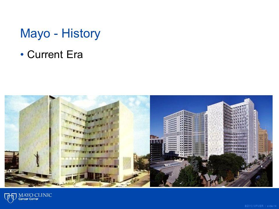 ©2013 MFMER | slide-14 Mayo - History Current Era