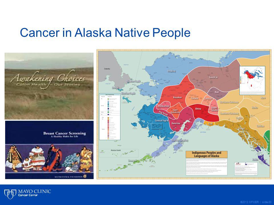 ©2013 MFMER | slide-33 Cancer in Alaska Native People