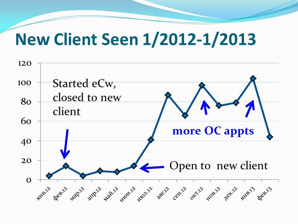 New Client Seen 1/2012-1/2013
