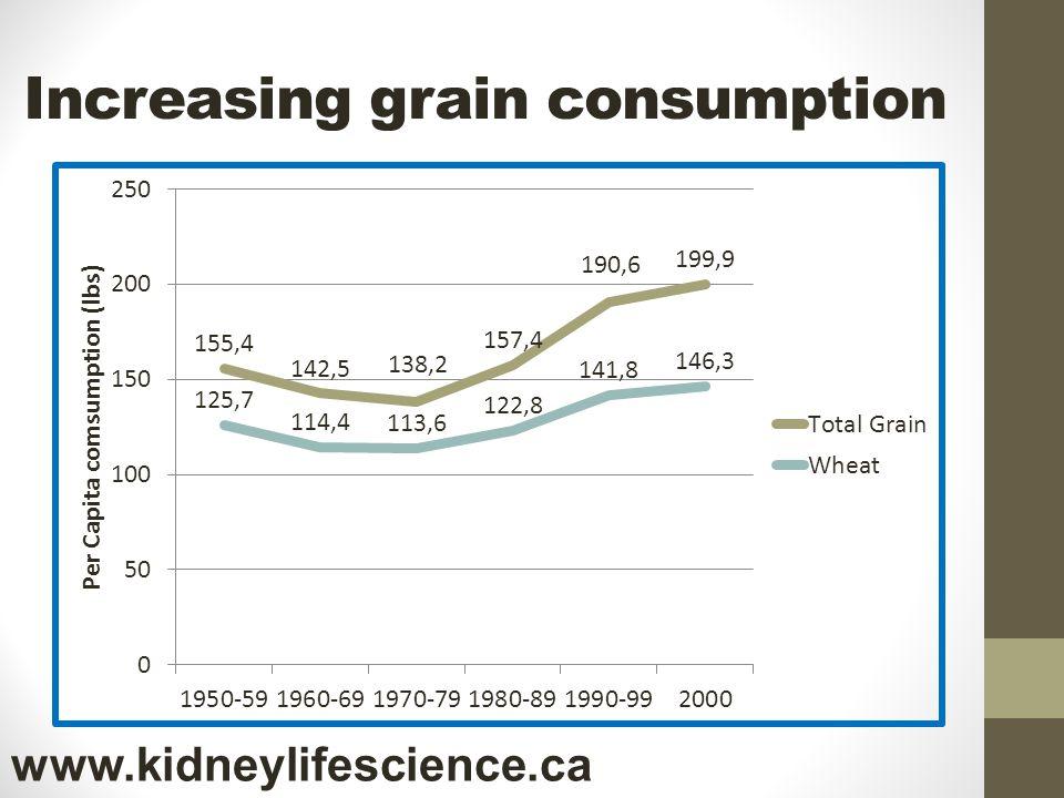 Increasing grain consumption www.kidneylifescience.ca