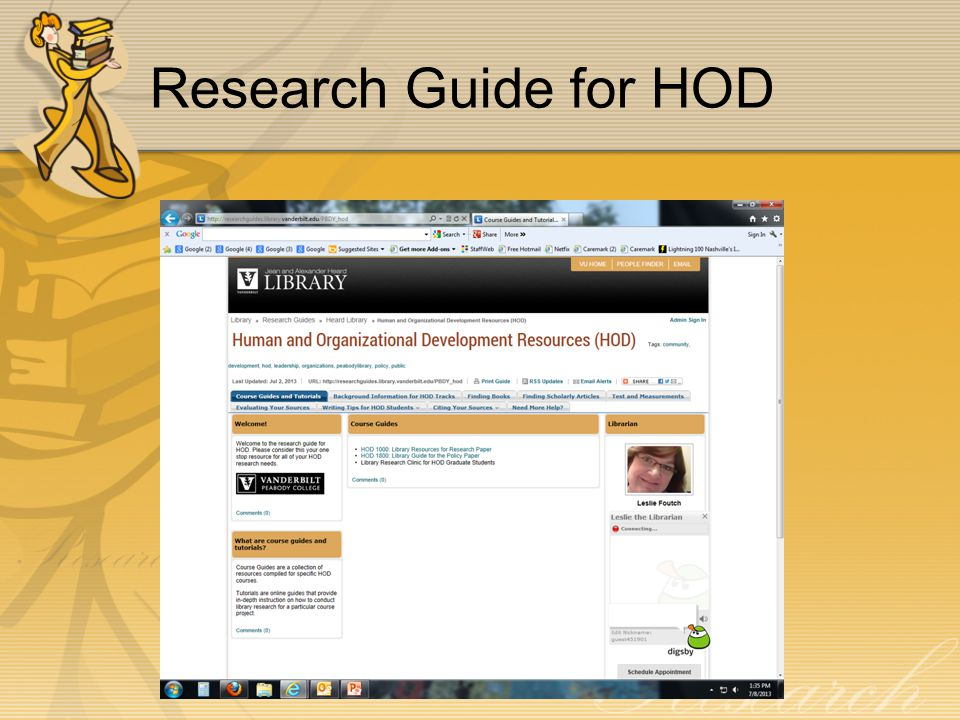 Research Guide for HOD