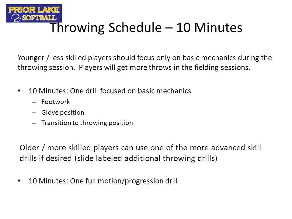Additional Infield Videos Coach Instructions: These videos are primarily for reference.