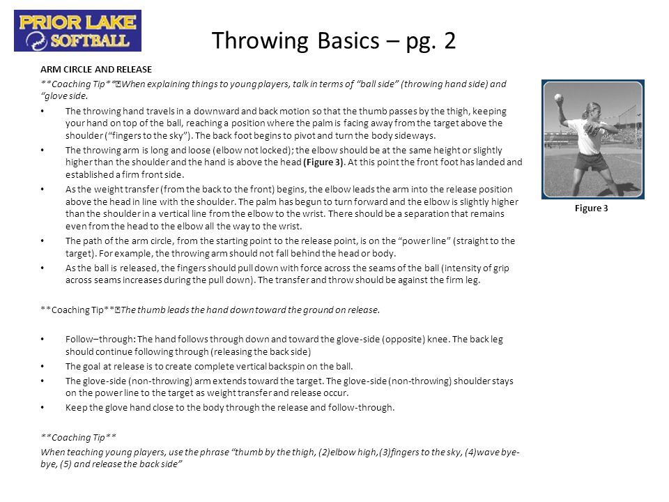 Throwing Clinic Progression Primary Focus Basic Mechanics – 10 minutes Coach Instructions: The throwing segment of the clinic should focus on developing proper throwing mechanics.