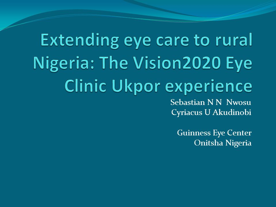 Developmental phases Community awareness of the clinics existence Clinical services School eye health Eye health promotion & education in the community Self-sustaining services Replication of the model in other communities