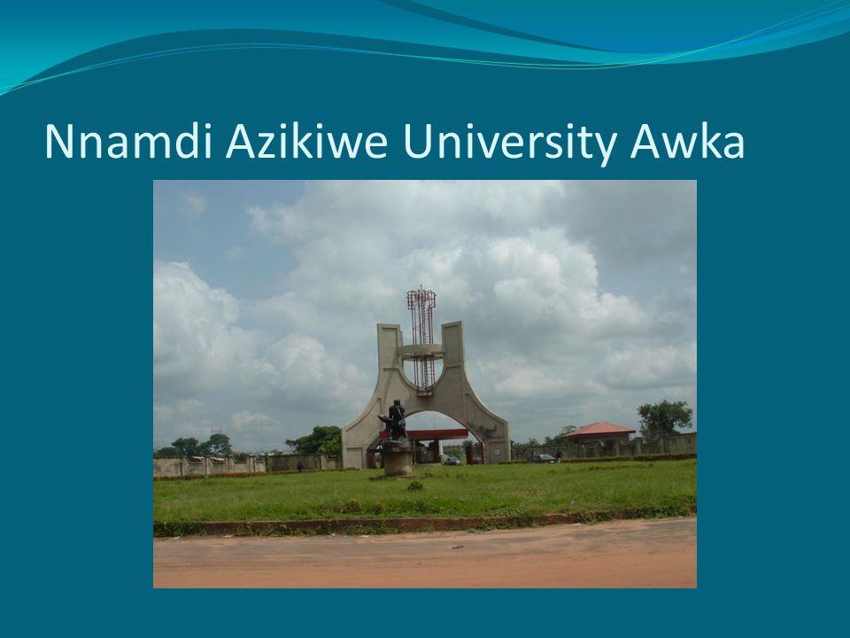Nnamdi Azikiwe University Awka