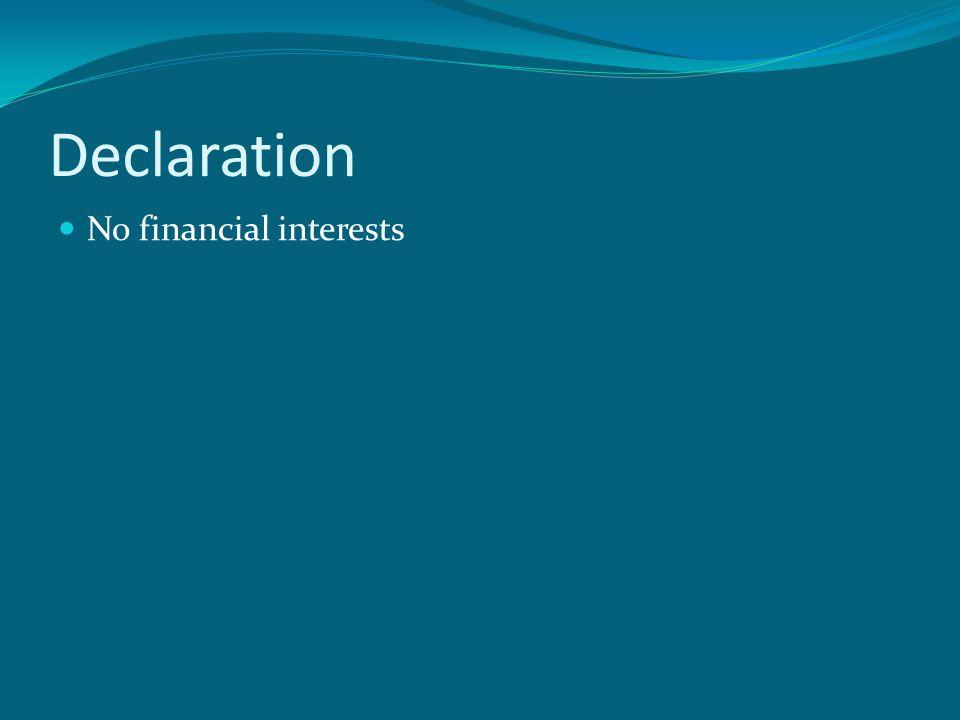 Declaration No financial interests