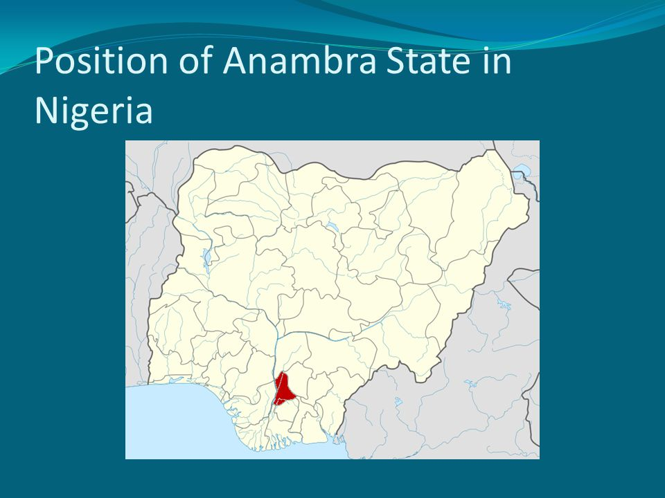 Introduction...3 In Anambra State the prevalence of blindness is even higher The rural-urban migration notwithstanding, majority of the populace still reside in rural areas