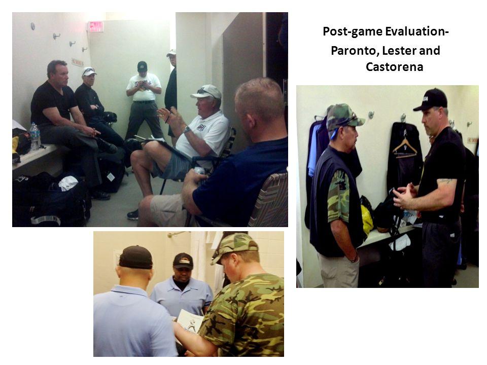 Post-game Evaluation- Paronto, Lester and Castorena