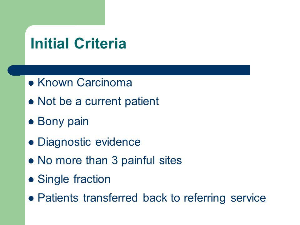 Rapid Access Palliative Clinic April 2009