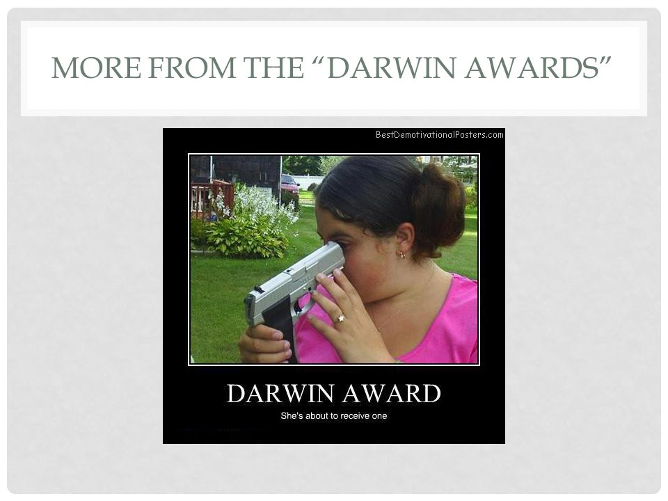 MORE FROM THE DARWIN AWARDS