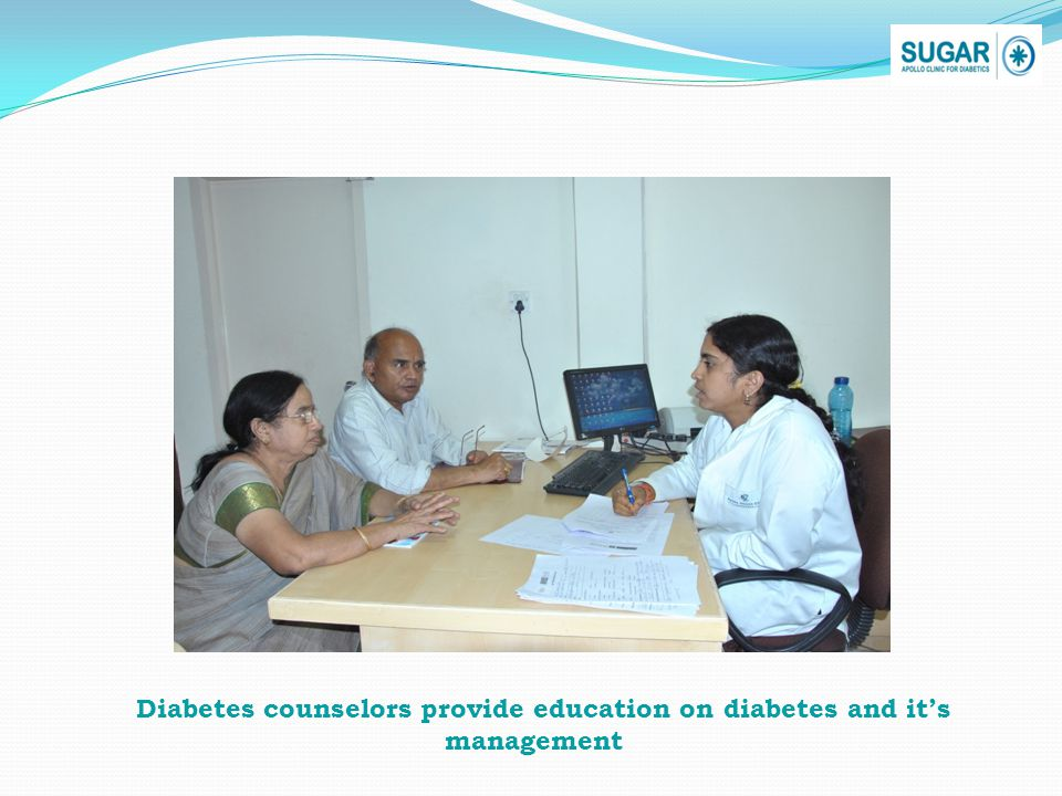 Diabetes counselors provide education on diabetes and its management