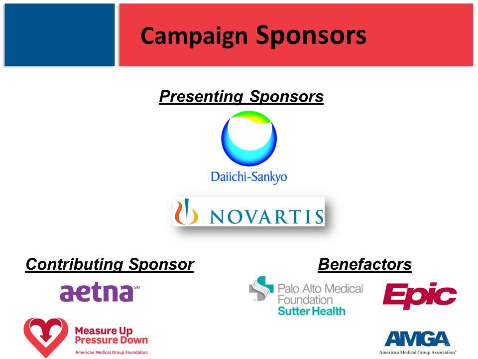 Campaign Sponsors Presenting Sponsors 12 Contributing SponsorBenefactors