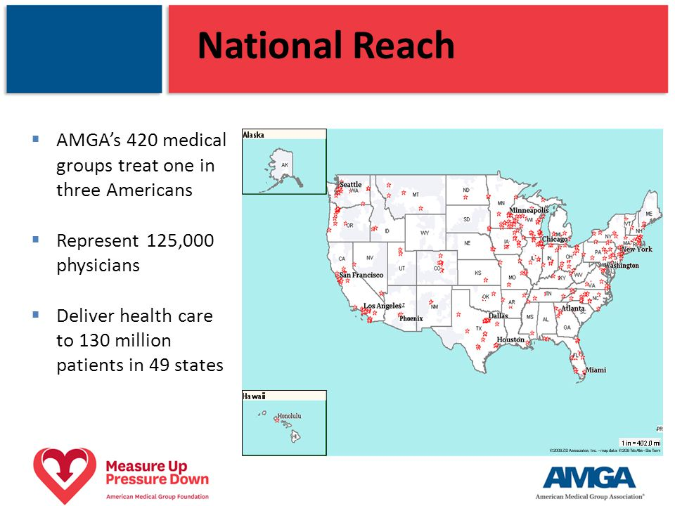 Campaign Goals Primary Mobilize medical groups to achieve measurable improvements in high blood pressure prevention, detection, and control 80% of patients at goal by 2016 50% of AMGA membership adopt (at least one) campaign planks