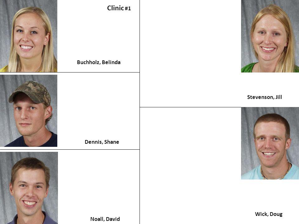 Buchholz, Belinda Clinic #1 Dennis, Shane Noall, David Stevenson, Jill Wick, Doug