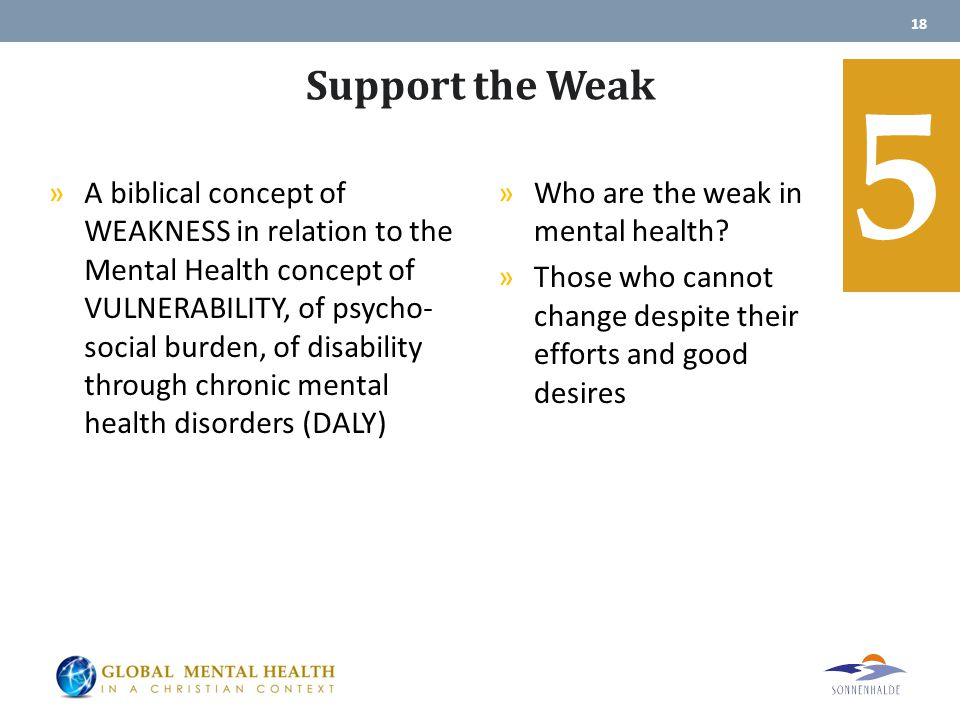 Support the Weak »Who are the weak in mental health.