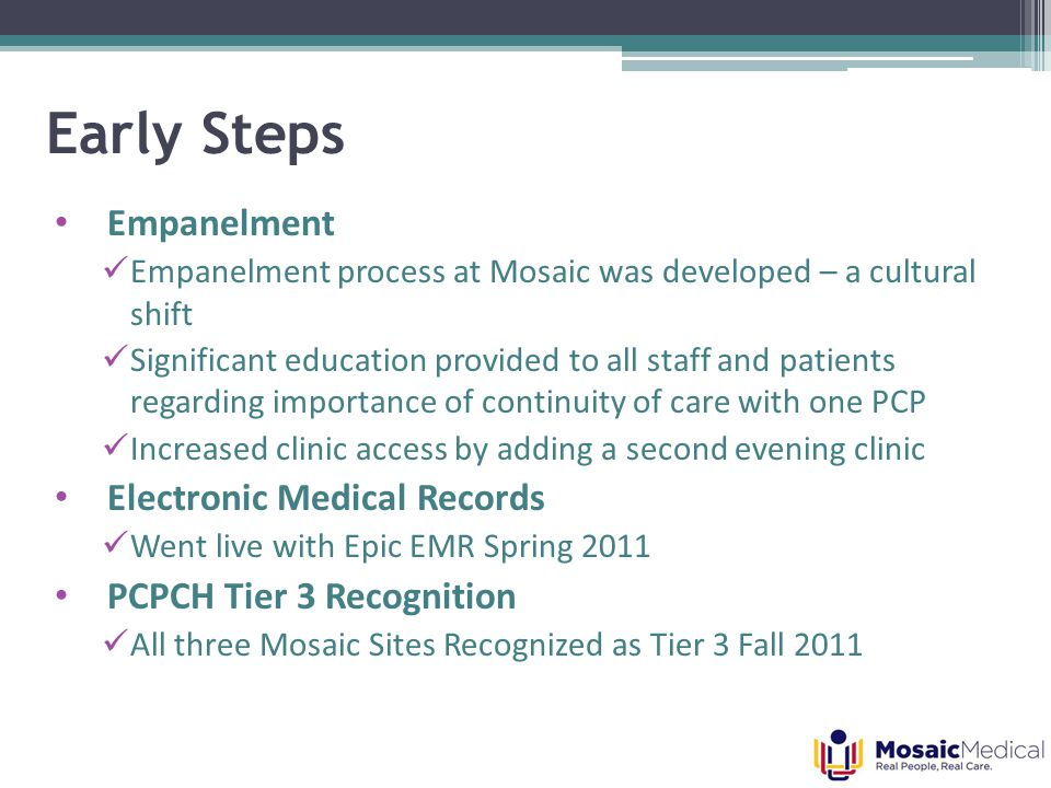 Patient-centered clinical support related to visit-level care.