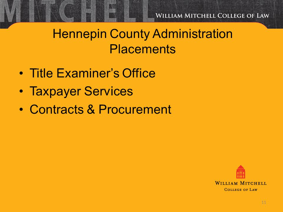 11 Hennepin County Administration Placements Title Examiners Office Taxpayer Services Contracts & Procurement