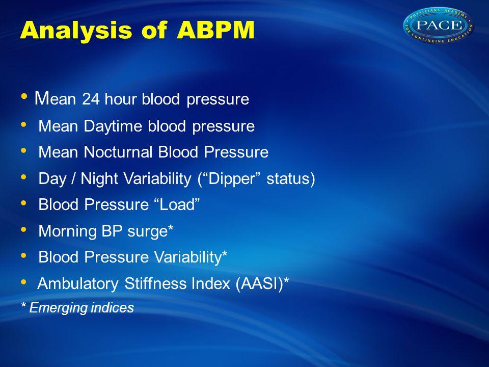 90 140 ABPM (mmHg) 24 hour Ambulatory Blood Pressure Mean day BP:122/84 Mean Night BP:117/72 Mean 24hr BP: 119/78 Normotensive DayNight Morning Surge