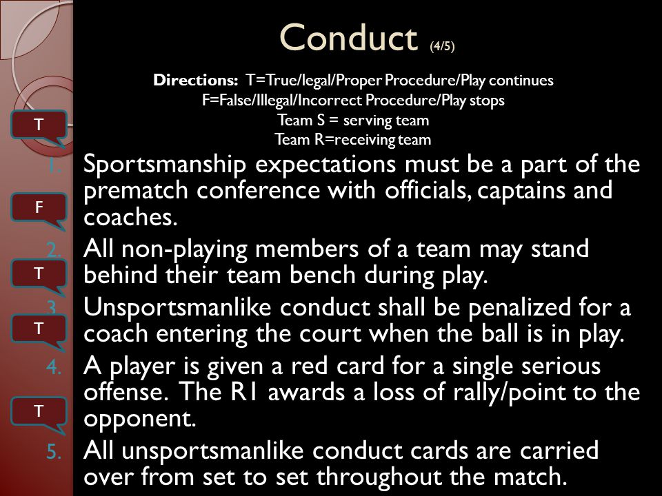 Conduct (4/5) 1.
