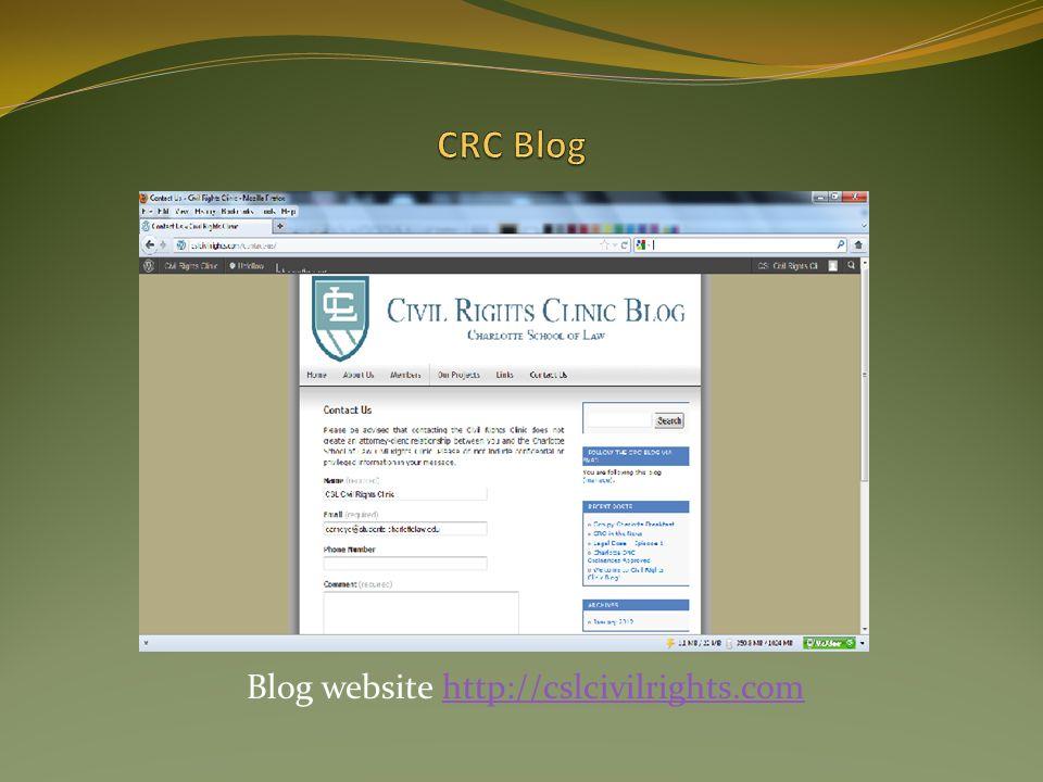 Blog website http://cslcivilrights.comhttp://cslcivilrights.com
