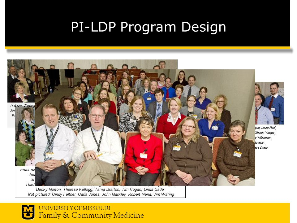 UNIVERSITY OF MISSOURI Family & Community Medicine PI-LDP Program Design