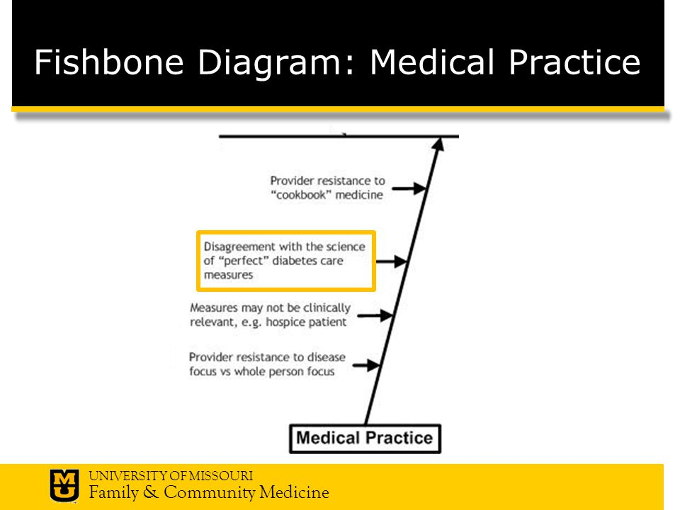 UNIVERSITY OF MISSOURI Family & Community Medicine Fishbone Diagram: Medical Practice