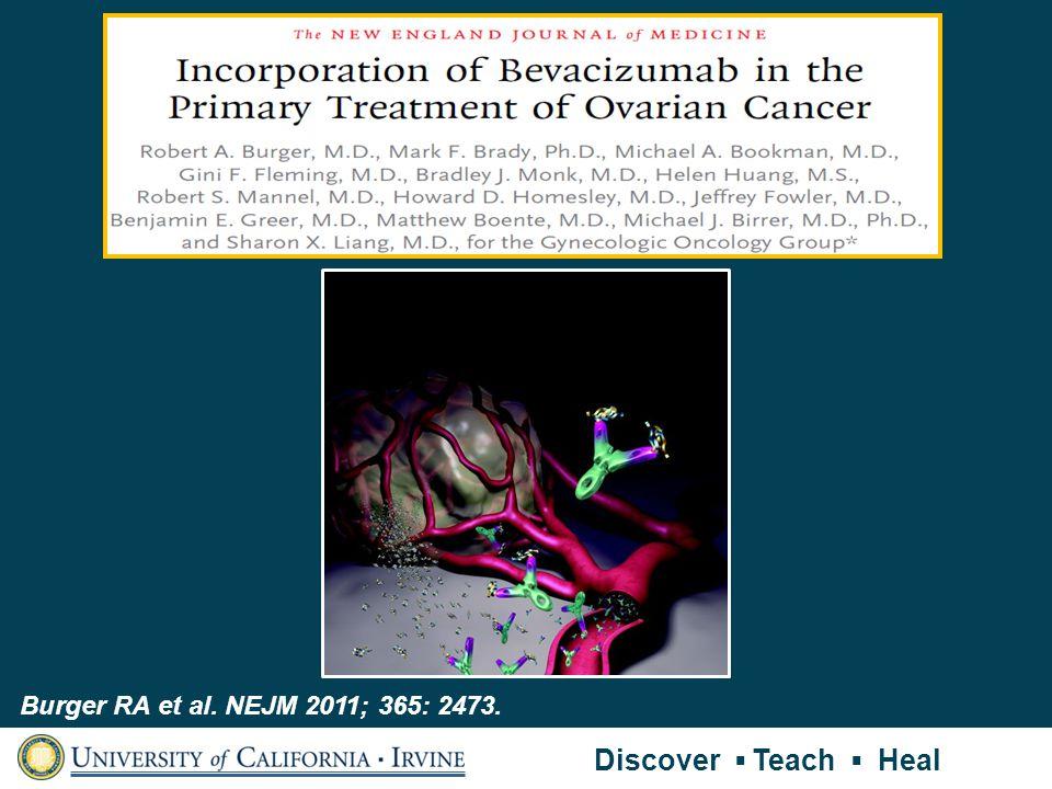 Burger RA et al. NEJM 2011; 365: 2473. Discover Teach Heal