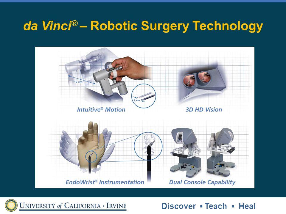 da Vinci ® – Robotic Surgery Technology Discover Teach Heal