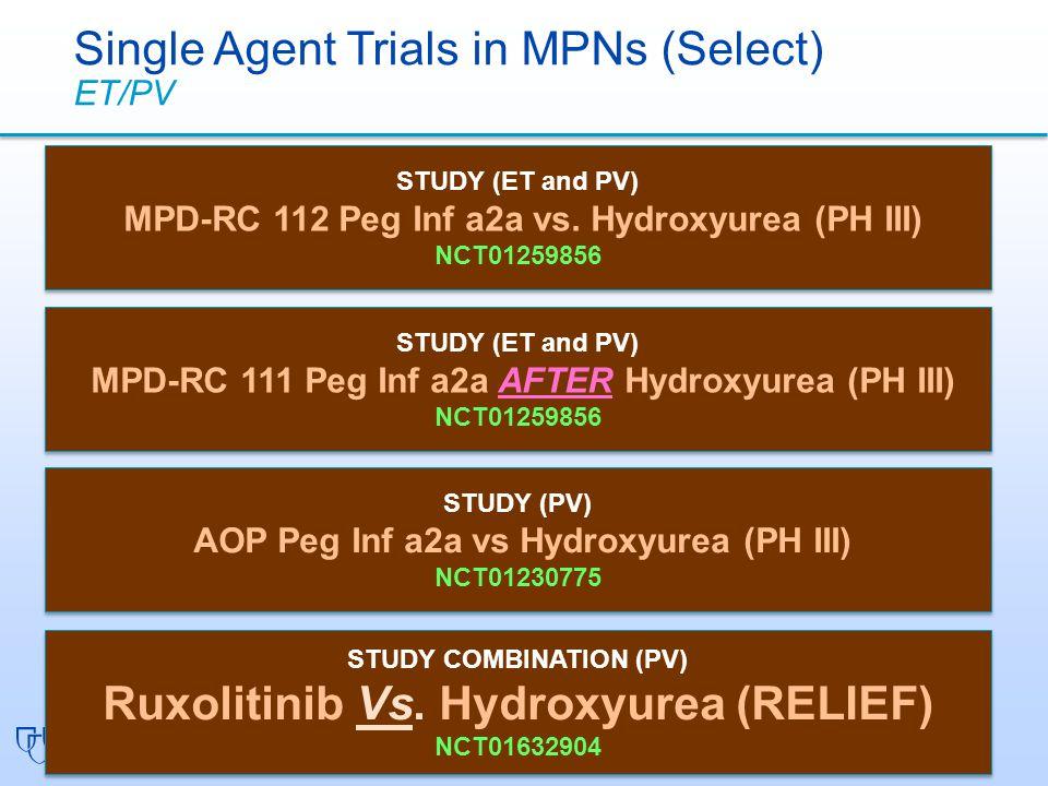 STUDY COMBINATION (PV) Ruxolitinib Vs.