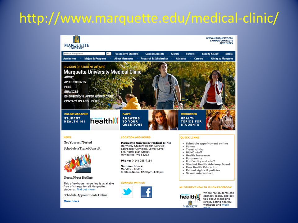 http://www.marquette.edu/medical-clinic/