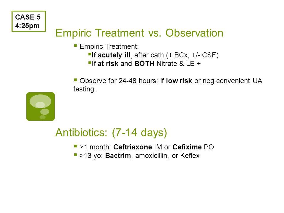 Empiric Treatment vs.