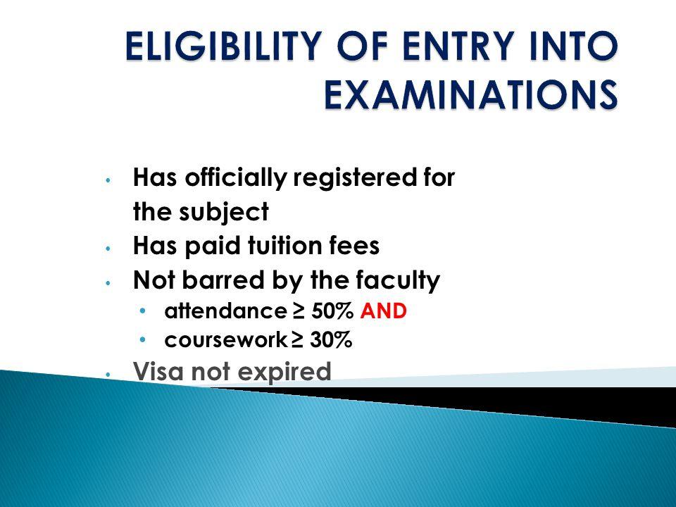 EXAMINATION PRE-EXAM BARRING PREP OF QTION PAPER EXAM SCHEDULING INVI SCHEDULING CONDUCT OF EXAM POST EXAM
