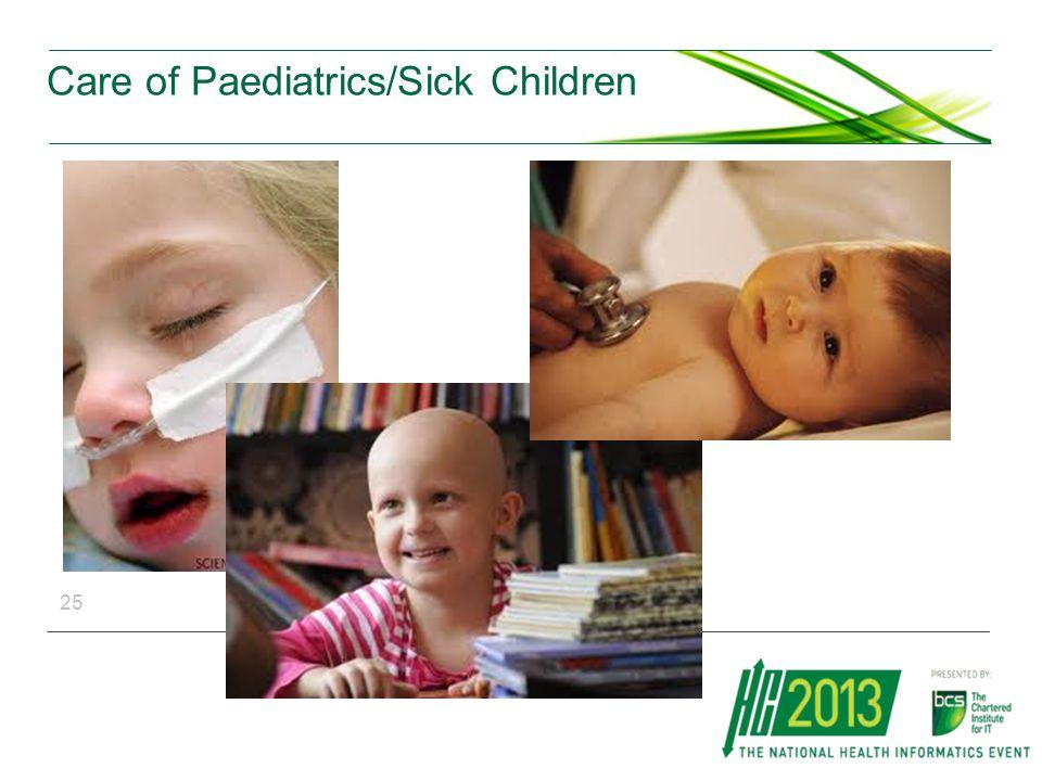 Care of Paediatrics/Sick Children 25